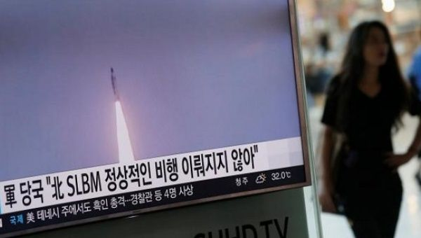 Korean submarine-fired missile appears to have failed: S. Korea