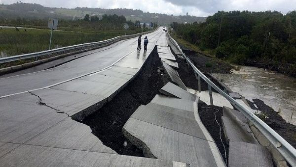 Quake of magnitude 7.7 strikes southern Chile, tsunami warning issued