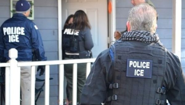 ICE agents during immigration raids in Atlanta Georgia. Feb. 11 2017