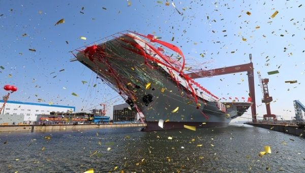 Dalian yard launch for homegrown aircraft carrier