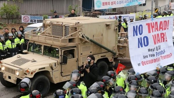 Korea installs parts of contentious US missile defense