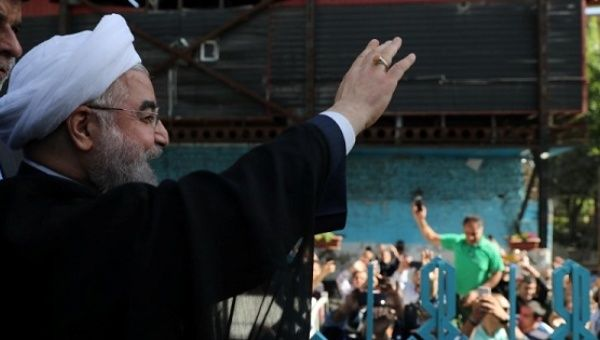 Iran elects moderate cleric Rouhani president