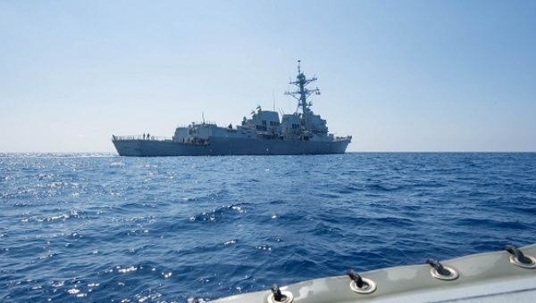 US Navy ship sails near reef claimed by Beijing
