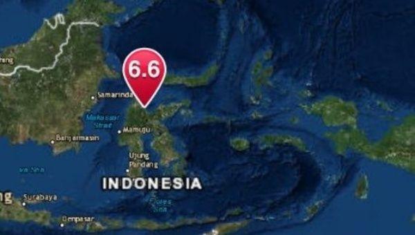Strong quake shakes Indonesia's Sulawesi island