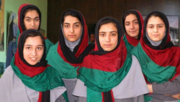Six Afghan schoolgirls banned from entering USA for robotics competition