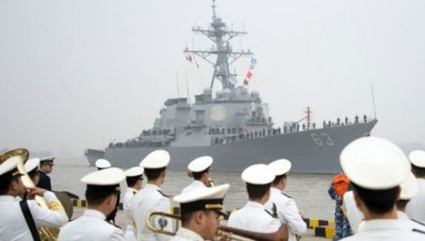 US Navy Destroyer Sails Near Disputed Island in South China Sea
