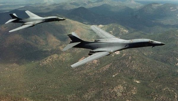 A pair of B-1B Lancer bombers