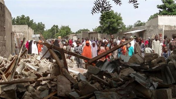 The terrorist group Boko Haram blew themselves up in the market