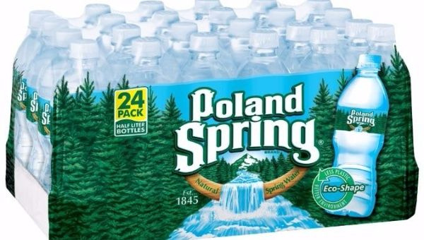 Suit: Poland Spring packaging info is all wet