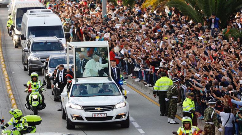 #EnVivo Mensaje del papa Francisco a jóvenes en Colombia