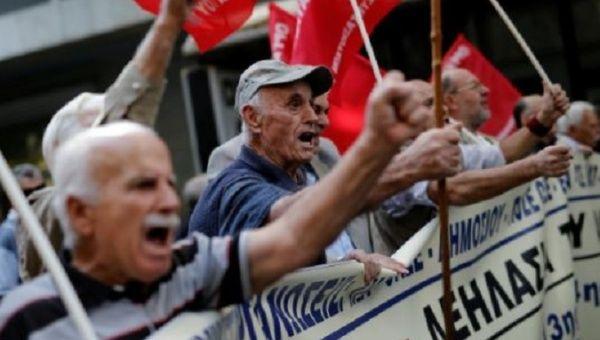 Greek TV news on strike