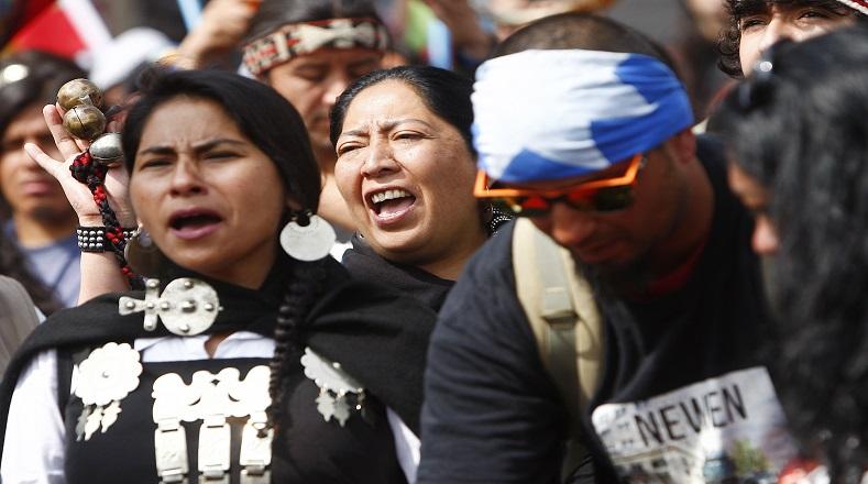 La Marcha por la Resistencia Mapuche finalizó con incidentes