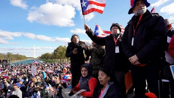 Thousands march in show of support for Puerto Rico