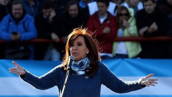 Argentina's Kirchner says arrest order violates law