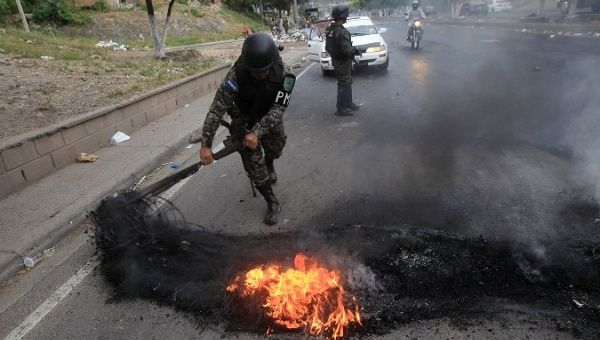 Honduran authorities accuses opposition of spurring unrest