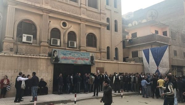 Gunman launches deadly attack on Coptic church near Cairo