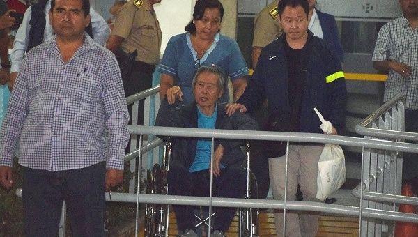 Pardoned ex-President Fujimori leaves medical center