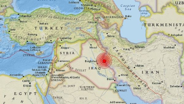 3 quakes magnitude 5 hit Iran-Iraq border area