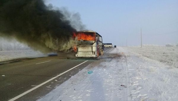 Over 50 burnt alive as bus catches fire in Kazakhstan