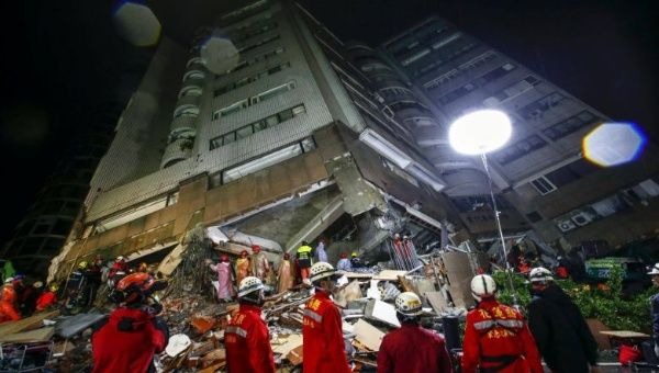 Two killed, 219 injured in Taiwan quake