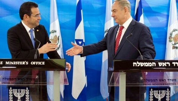 Thank You: Guatemala's Jimmy Morales Invited to Pro-Israel AIPAC Conference class=