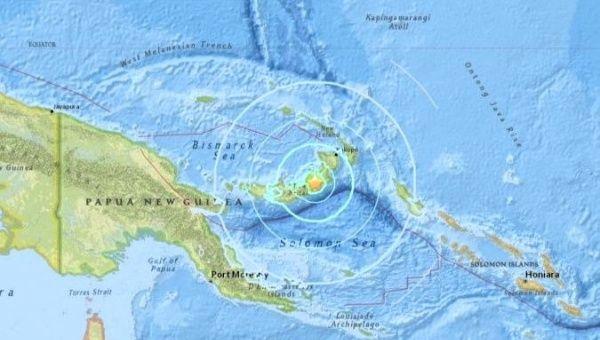 Magnitude 6.6 quake rattles Papua New Guinea