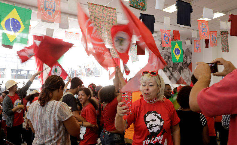 Thousands protest against court's ruling on Lula prison