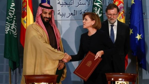 Saudi crown prince arrives in Spain for two-day visit