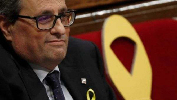 Catalan lawmakers set to elect new hardline leader Quim Torra