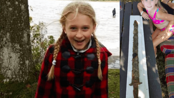 Girl, 8, finds 1500-year-old sword in lake
