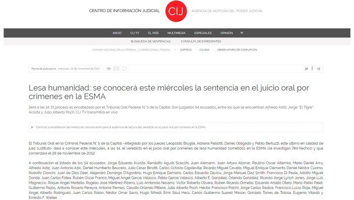 Argentina: Cadena perpetua a ex marino Astiz por crimen de lesa humanidad