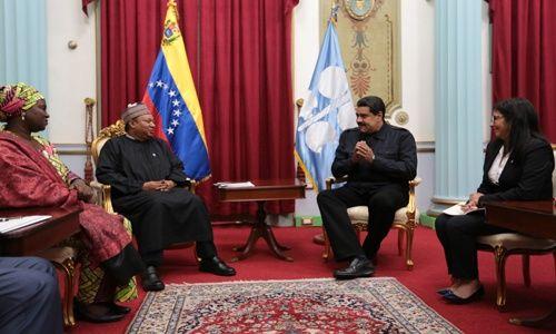 Presidente Maduro encabeza reunión con el secretario general de la Opep