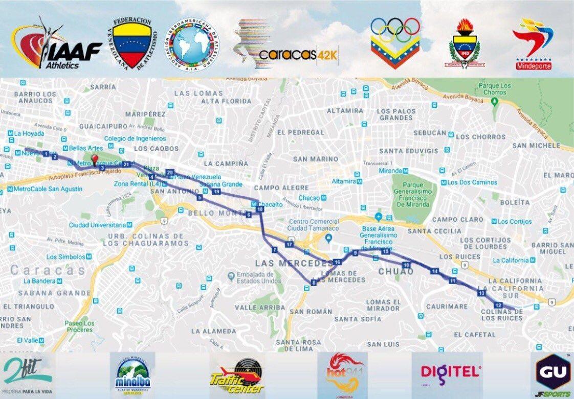 Maratón Caracas 42K contó con la participación de más de 500 atletas