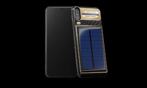 Lanzan iPhone X Tesla con carga solar