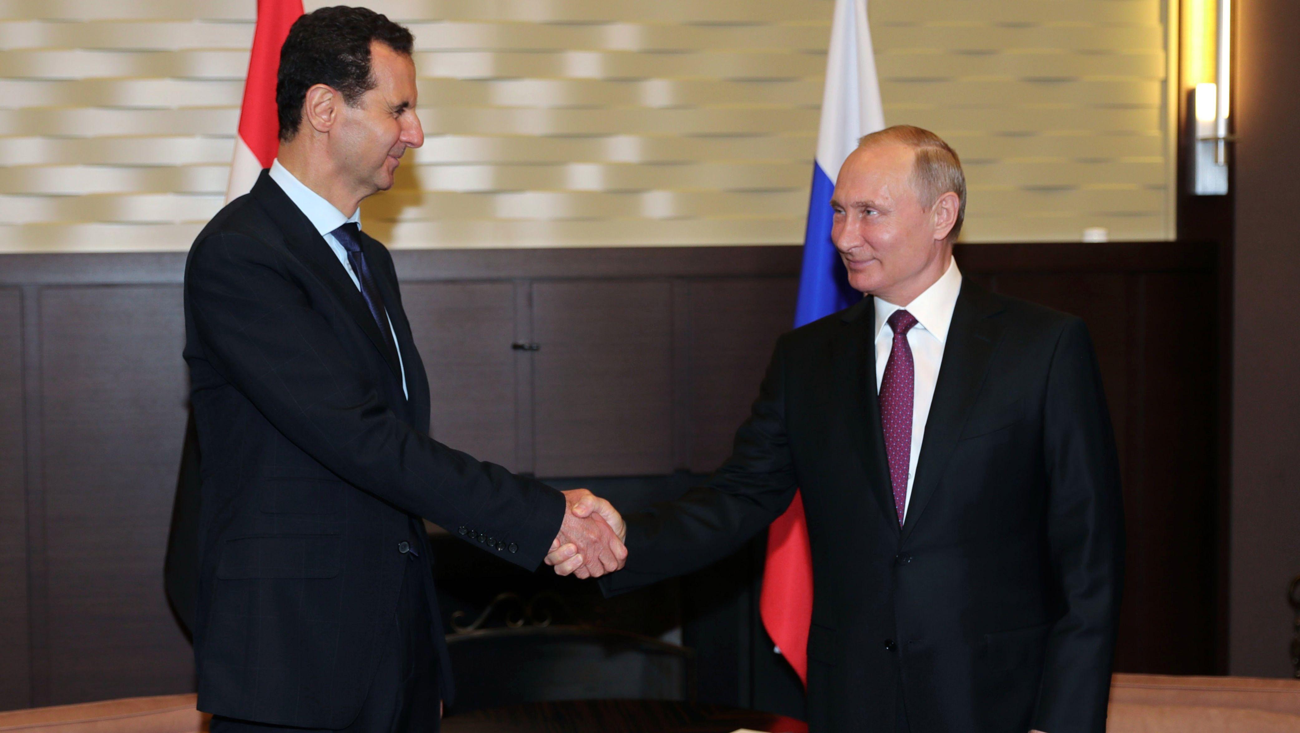 Vladimir Putin se reúne con Bashar al Asad en Rusia