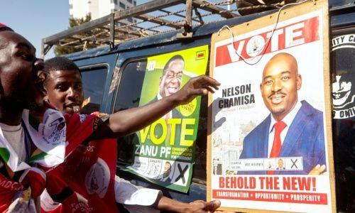 Presidente Mnangagwa fue anunciado ganador de las elecciones de Zimbabue