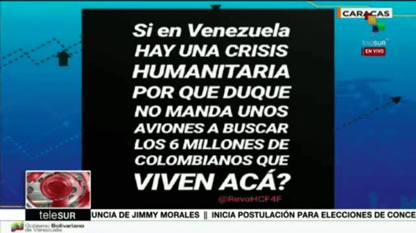 Maduro dice migrantes se van