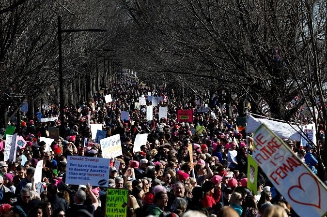 Women's Marches draw large crowds as demonstrations continue for second straight day